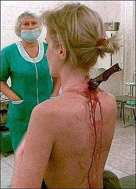 Breast stabbing fiction