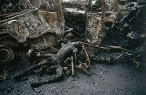 Iraqi Convoy Bombed During Persian Gulf War