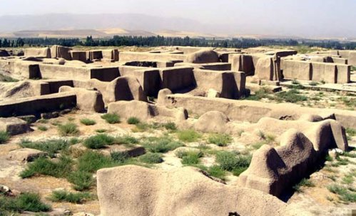 Remains of the citadel of Hasanlu