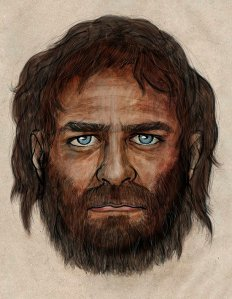 Artist Impression of Mesolithic Hunter-gatherer